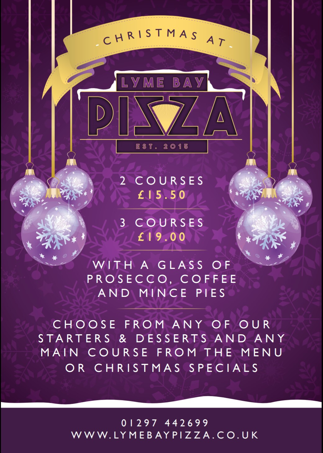 Christmas Party Bookings at Lyme Bay Pizza